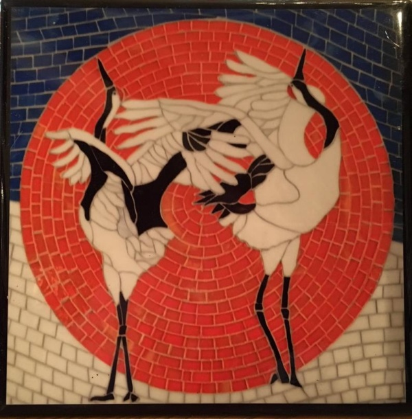 This tile is the Japanese Crane's mating dance.
